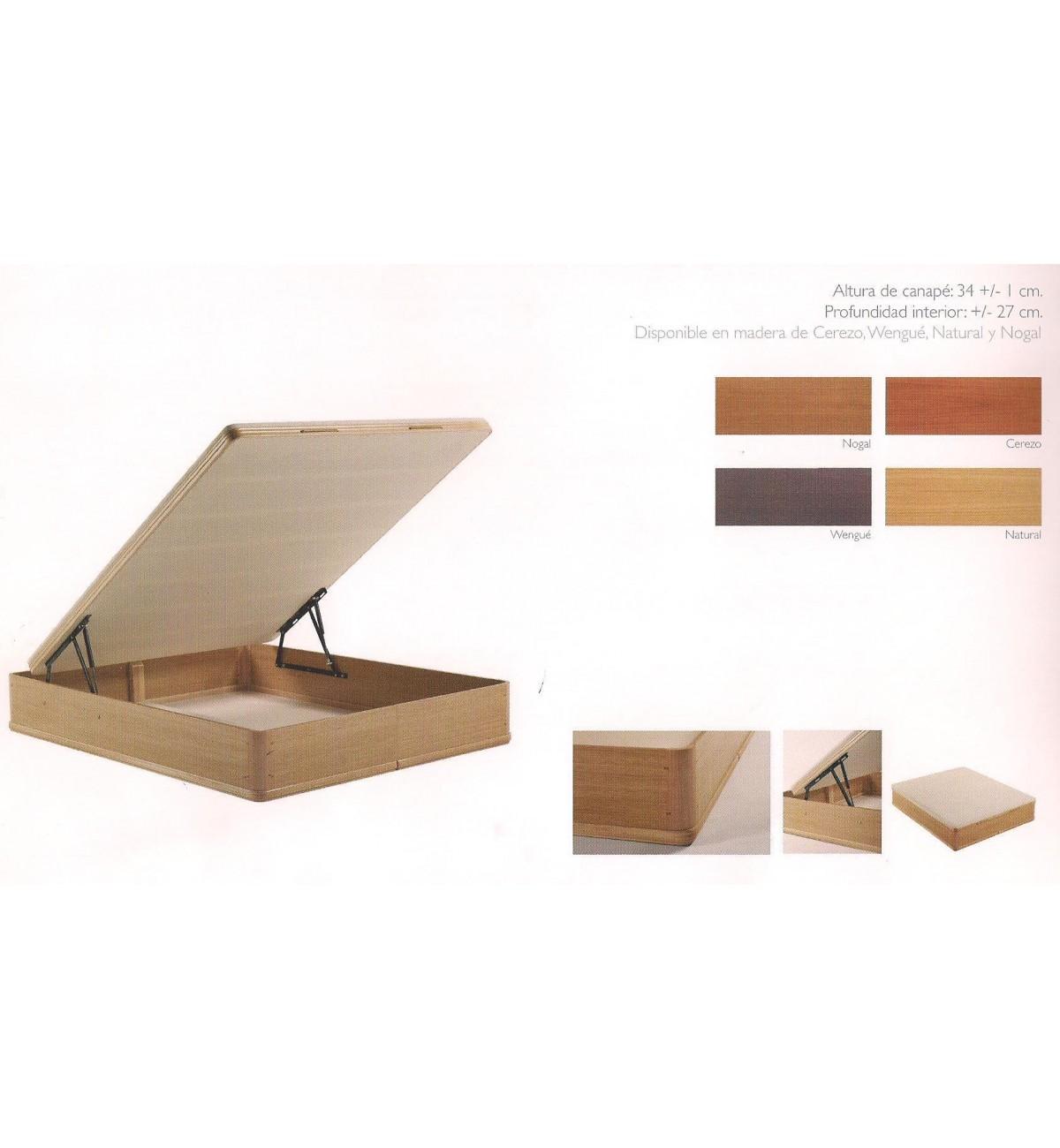 Canap abatible aspol dise o madera colchones online buen for Canape abatibles