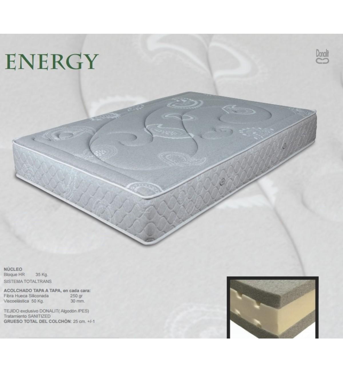 Colchón de viscoelástica por ambas caras Energy de Donalit