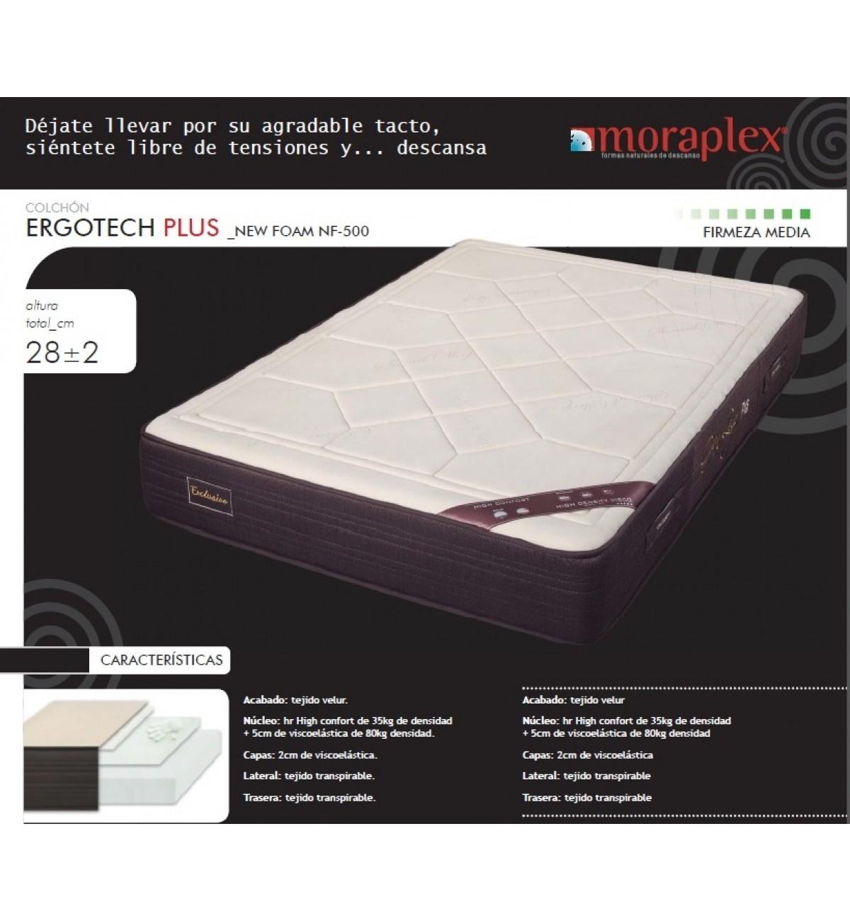 Colchones Moraplex.Colchon Viscoelastico Ergotech Plus De Moraplex Colchones Online