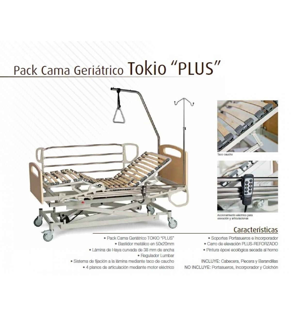 Cama articulada geriátrica con carro elevador Tokio Plus de Kuoris.