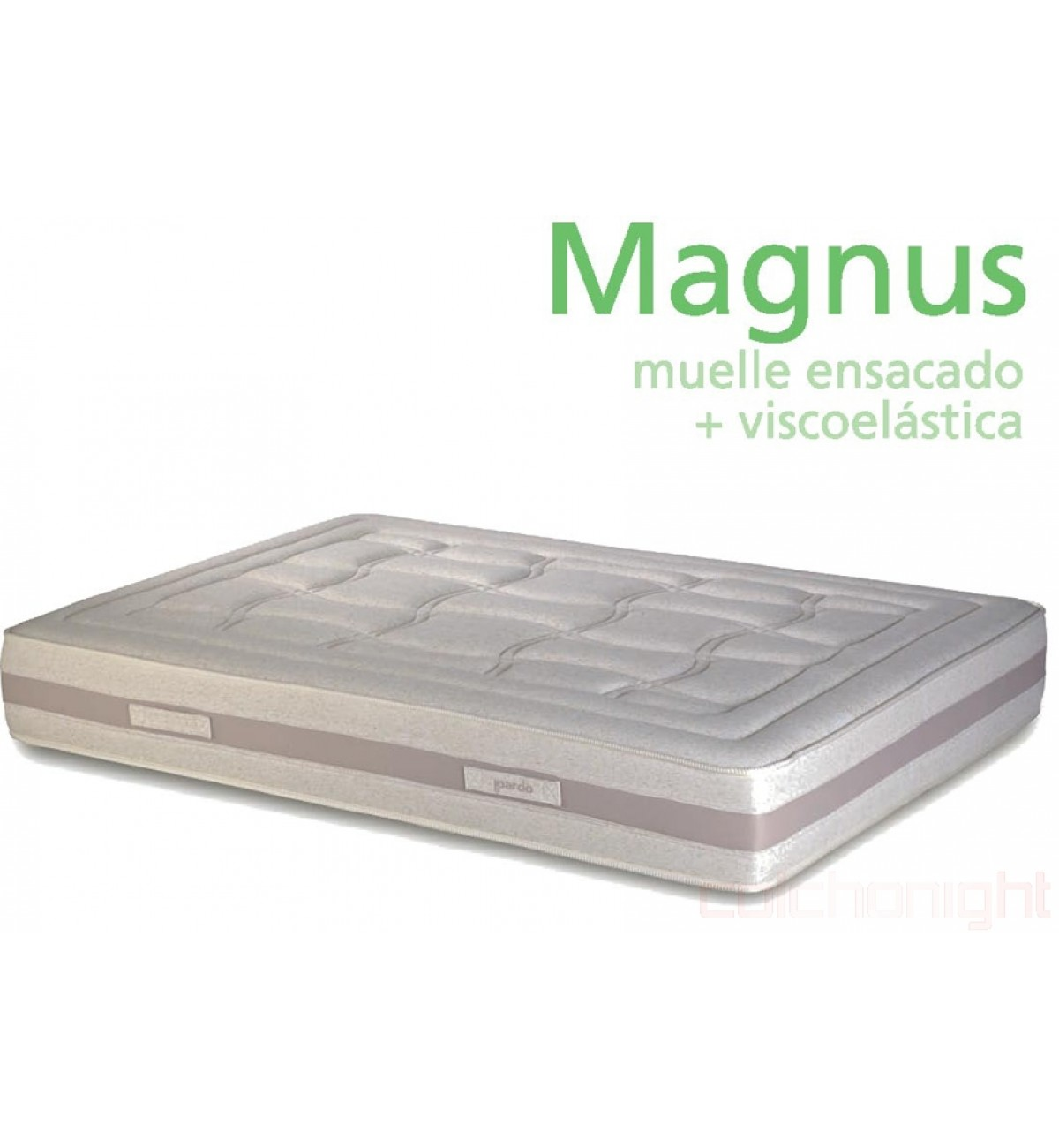 Colchón de muelles ensacados y viscoelástica Magnus de Pardo