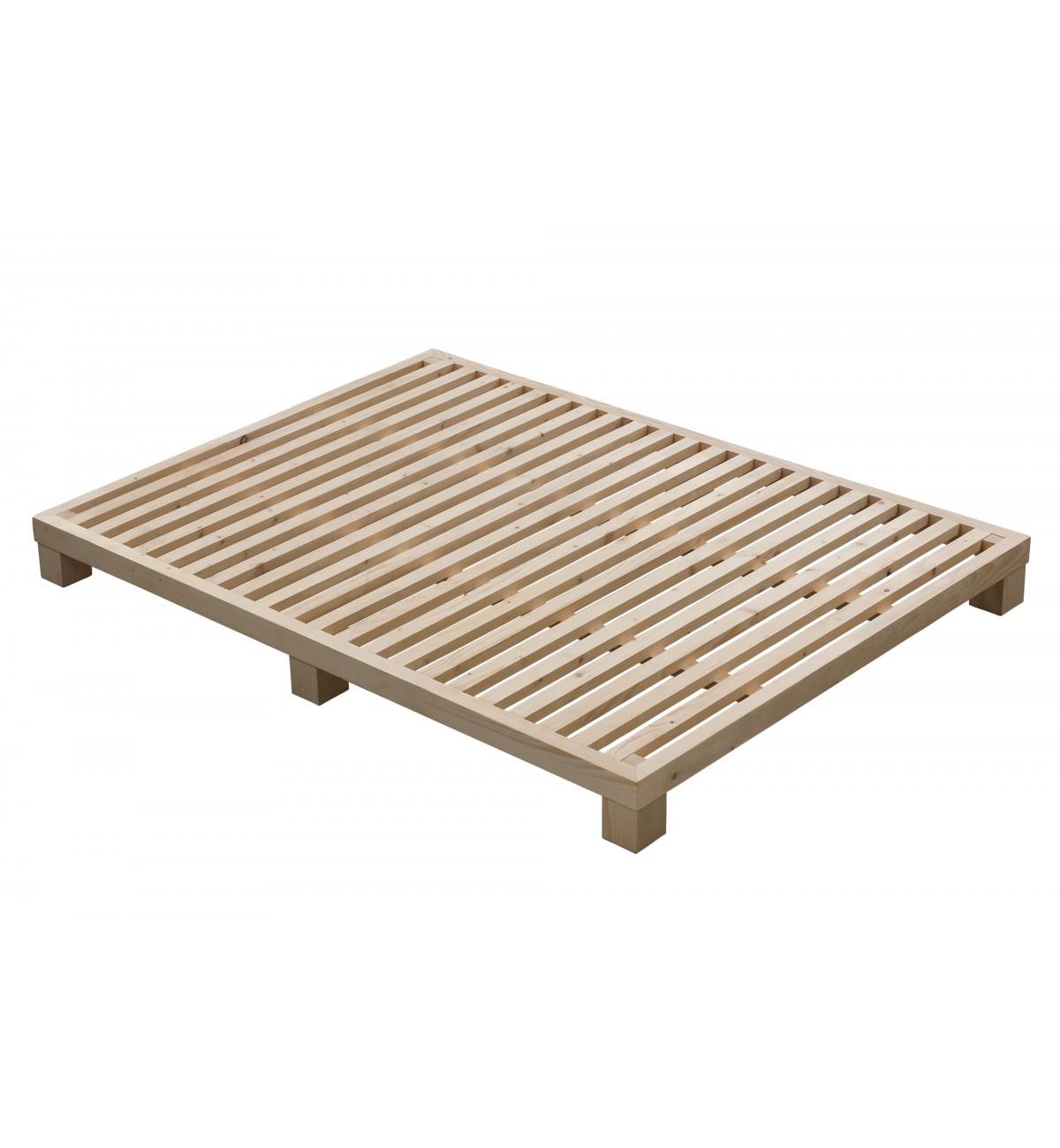Somier de madera maciza nordik donalit - Patas de madera para somier ...