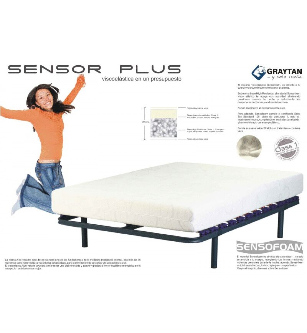 Colchón Sensor Plus Graytan